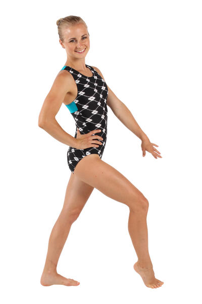 Onyx Links Racerback Tank Leotard