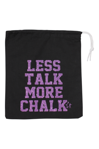 Less Talk More Chalk Grip Bag - Lavender Glitter