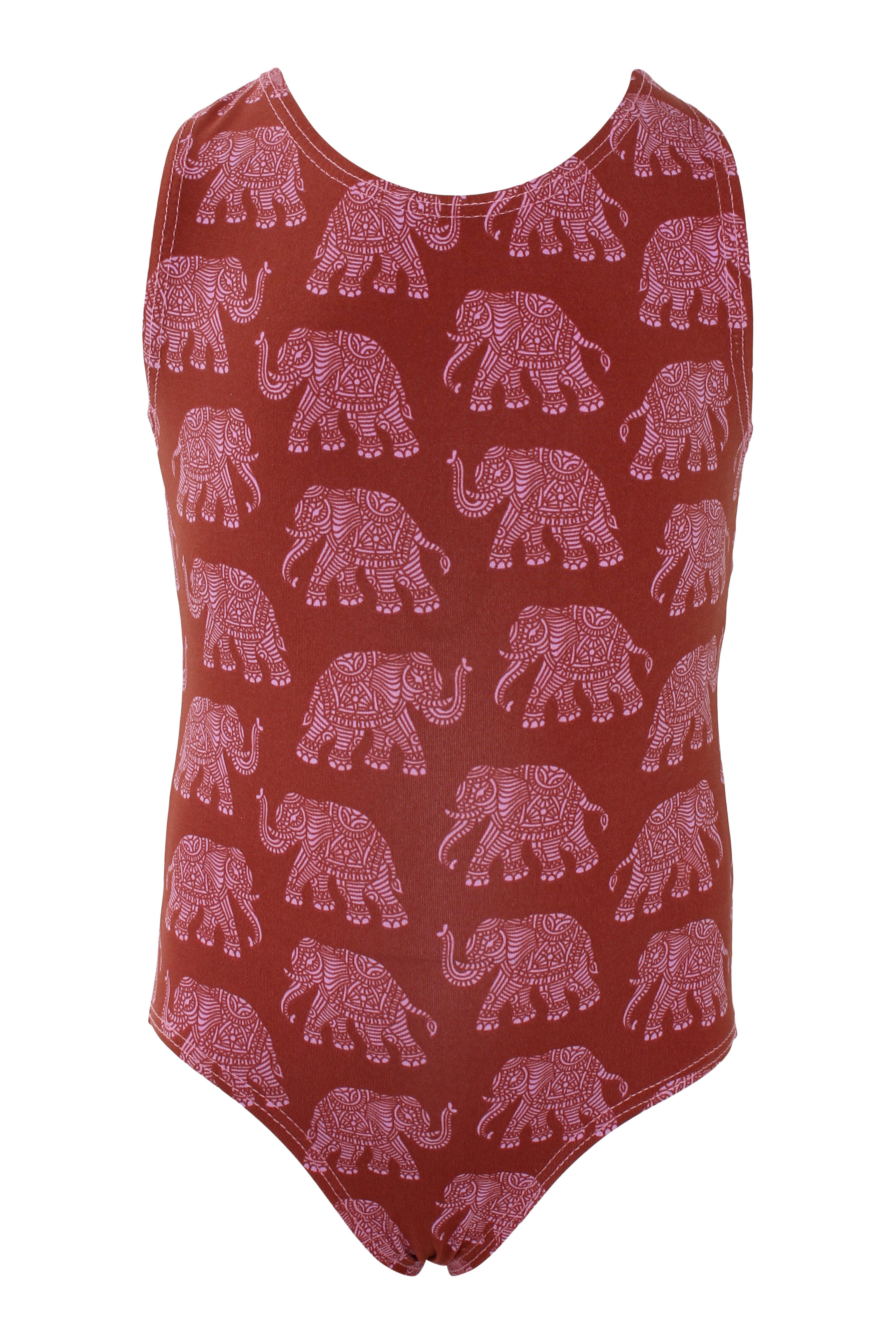 Pink Elephants Racerback Tank Leotard