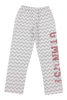 Gymnast Flannel Pants Gray Chevron - Rose Gold Glitter