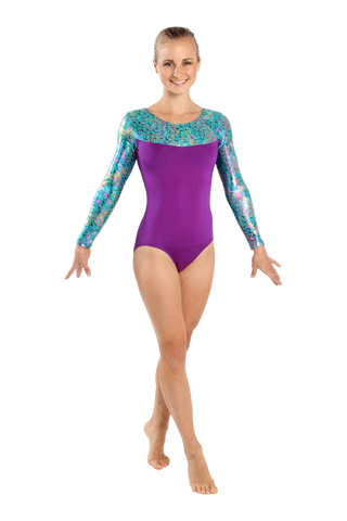 Galactic Code Long Sleeve Leotard