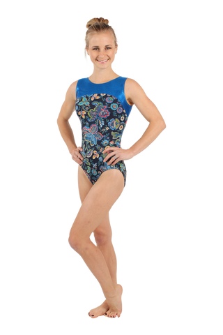 Pacific Paisley Tank Leotard