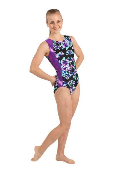 Midnight Bloom Tank Leotard