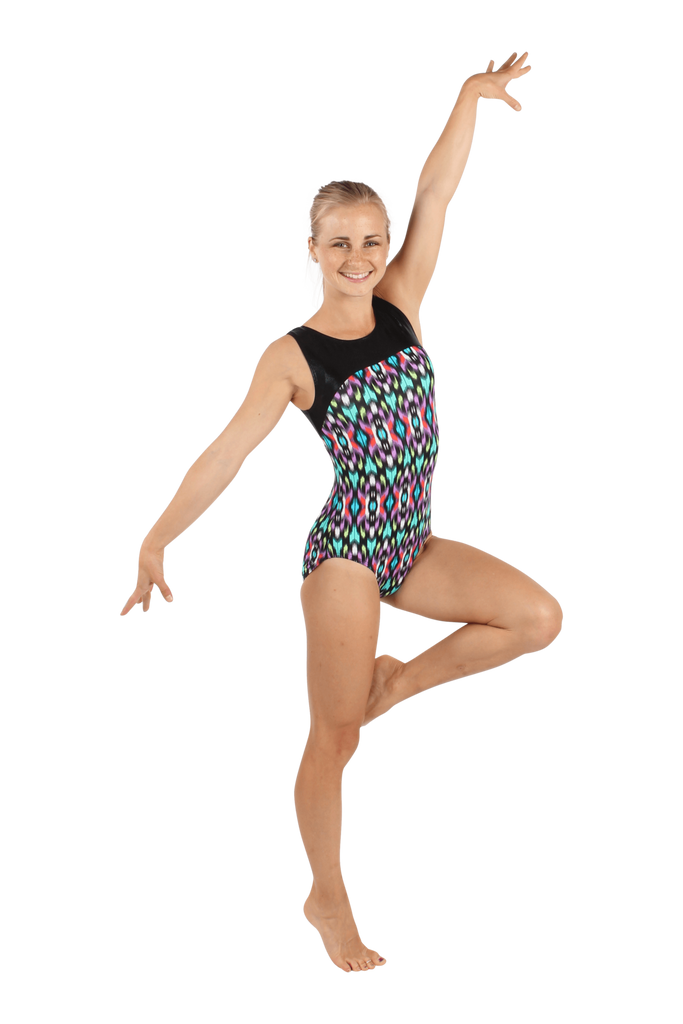 Ikat Bright Tank Leotard