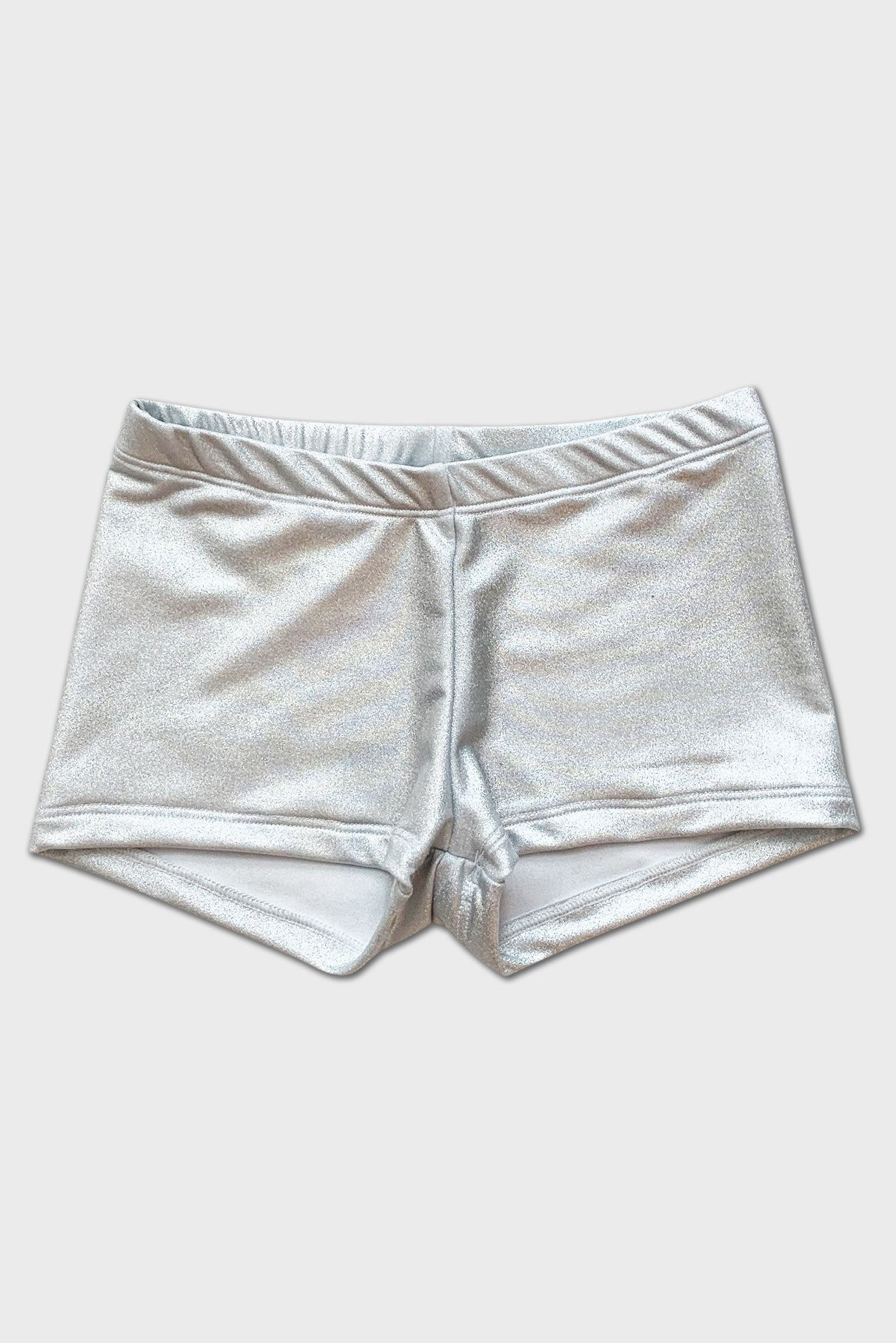 Metallic Shorts - Silver