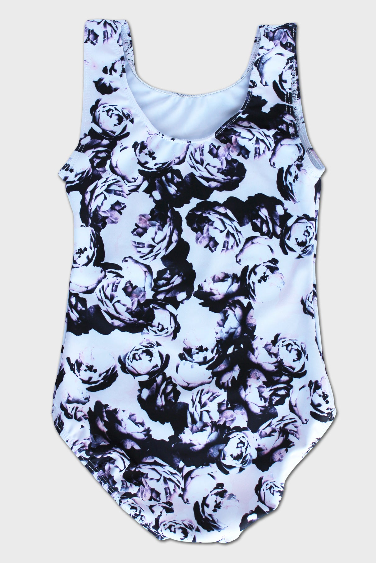 Onyx Roses Solid Tank Leotard