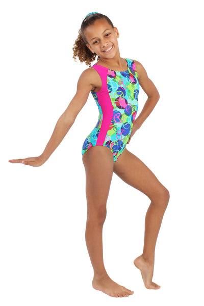 Peace Sign Perfect Tank Leotard
