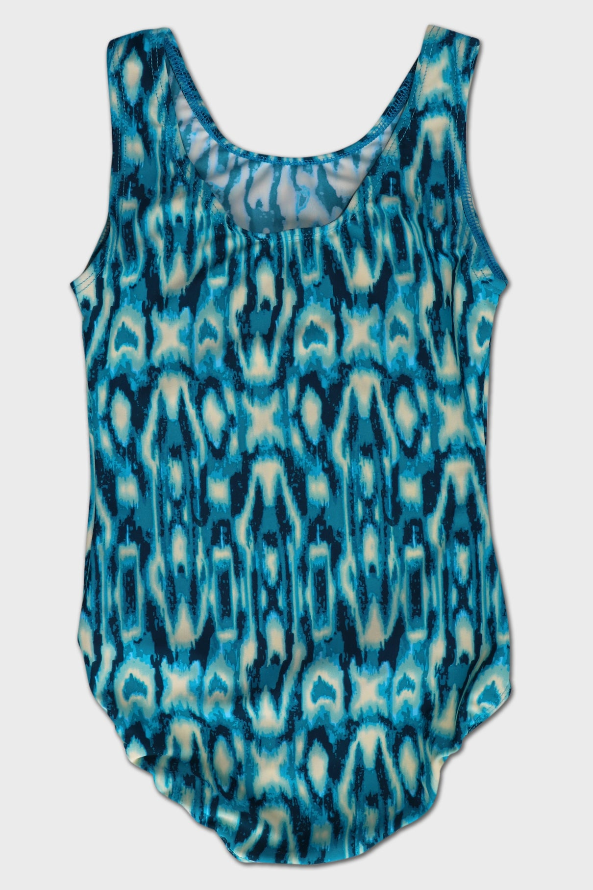 Peacock Ikat Tank Leotard