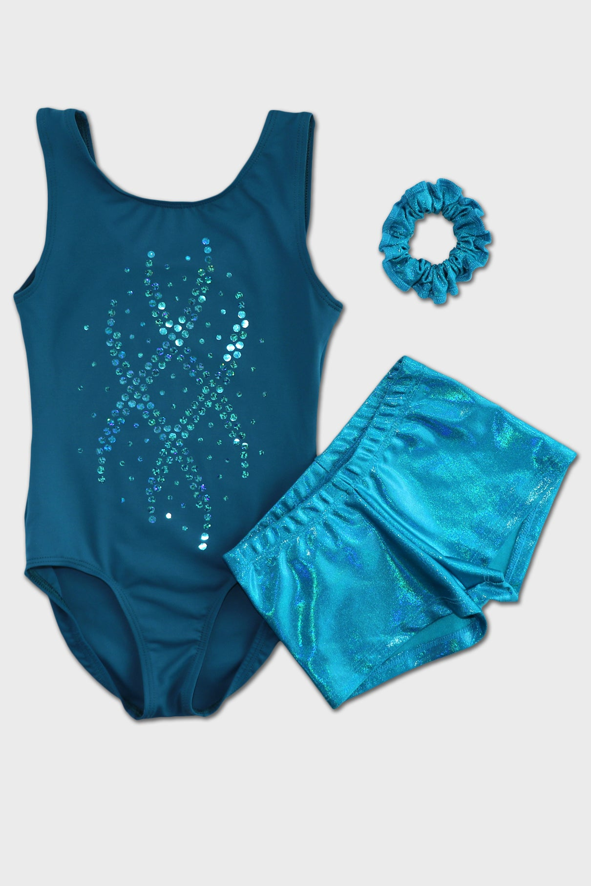 Peacock Wavelength Tank Leotard
