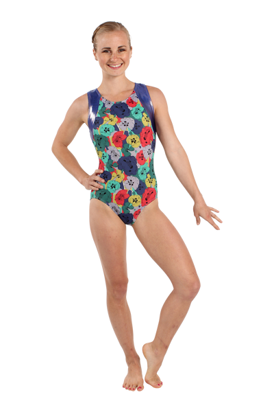 Poppies Racerback Tank Leotard