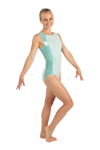 Seafoam Heathered Tank Leotard