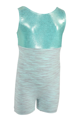 Seafoam Heathered Tank Unitard