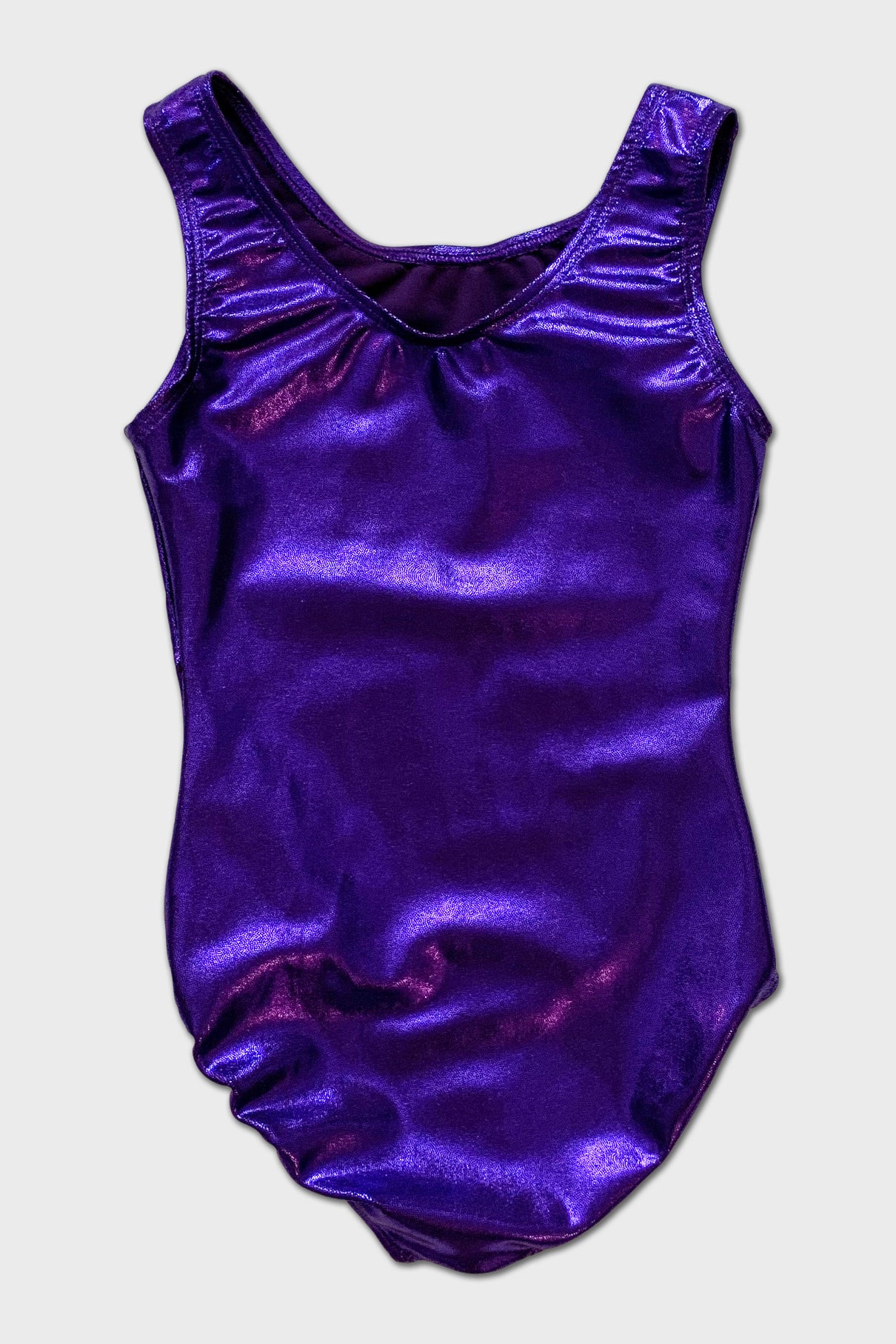Silver Swirl Tank Leotard - Purple
