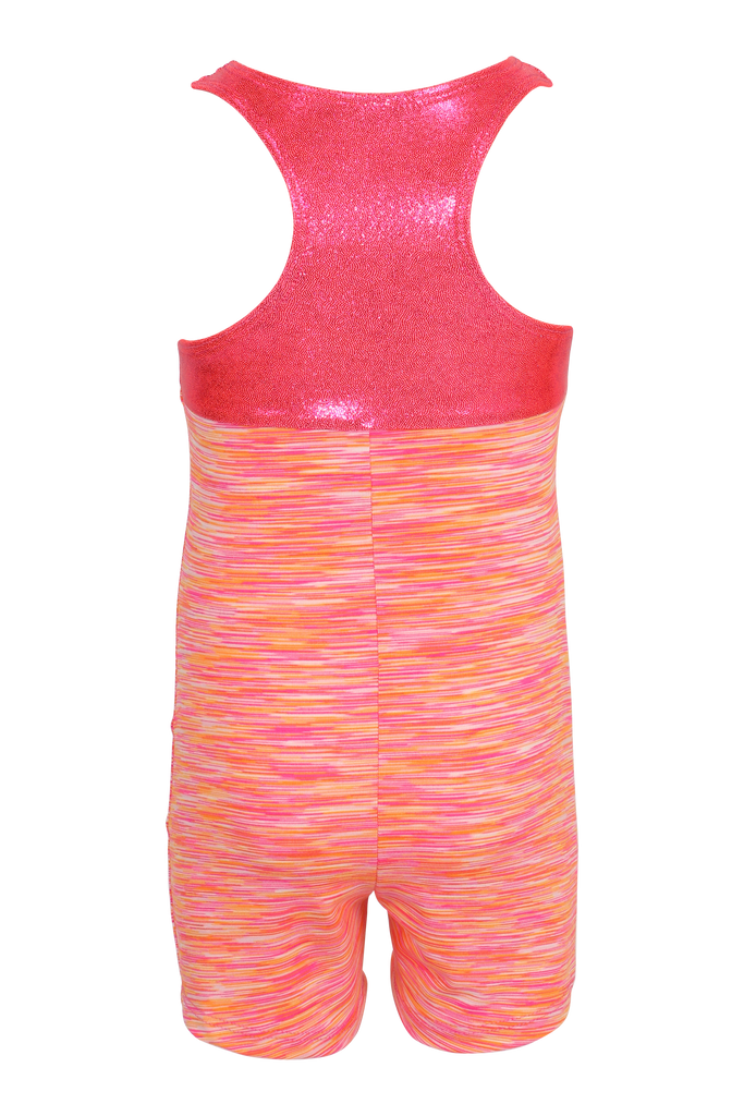 Sunrise Heathered Racerback Tank Unitard