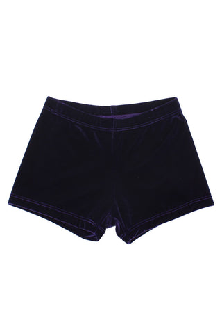 Velvet Shorts - Dark Purple