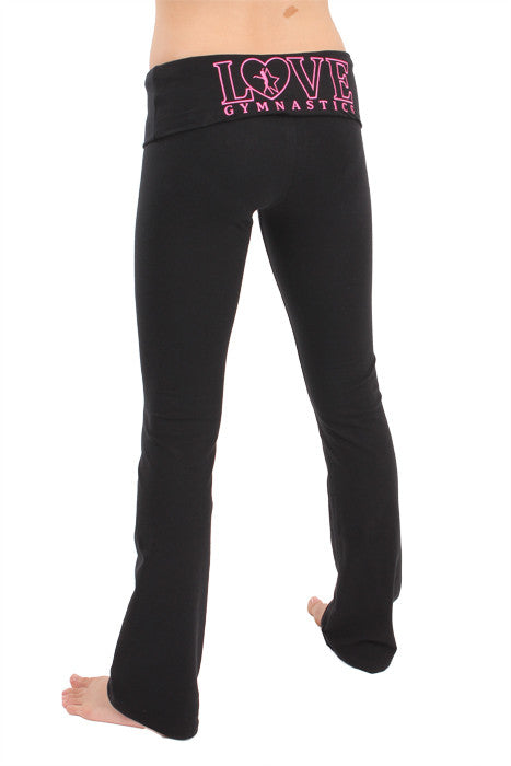 Love Gymnastics Foldover Yoga Pants
