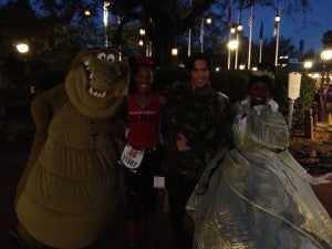 Me with the cast of Princess and the Frog