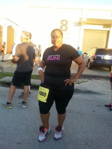 Nona before race Celebration of Running 2014