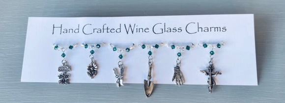 Wine Glass Charms - Themed Wine Glass Charms - Christmas