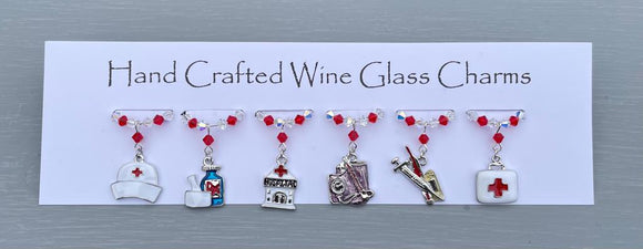 Medical Wine Glass Charms 1