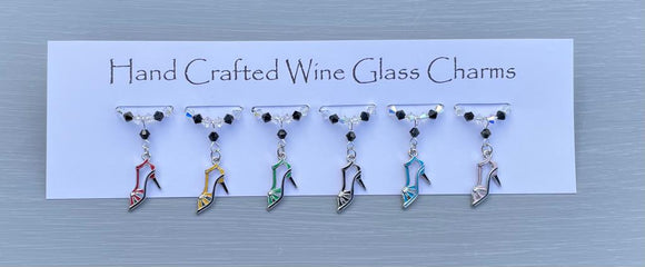Shoe Wine Glass Charms