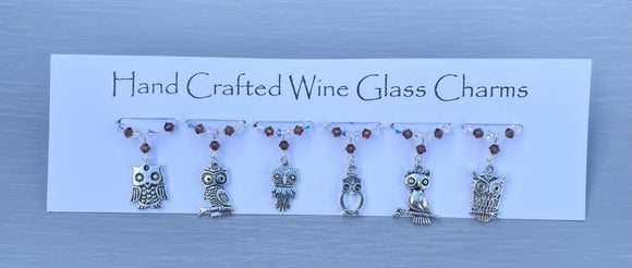 Owl Wine Glass Charms