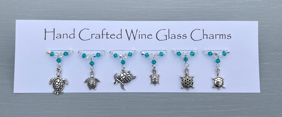 Turtle Wine Glass Charms