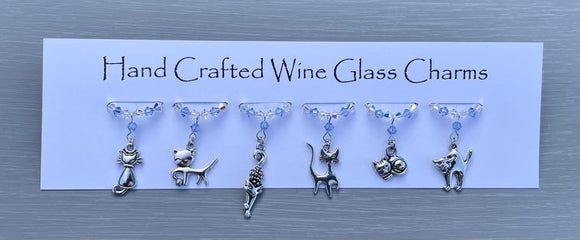 Cat Wine Glass Charms