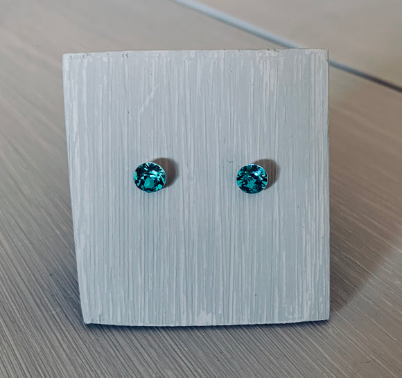 Blue Zircon Swarovski Earrings – Sterling Silver – December Birthstone – Mother's Day - Wedding Accessories
