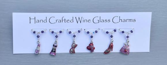 Girly Wine Glass Charms