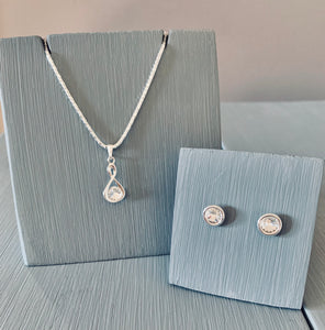 Crystal Infinity Necklace & Earring Set