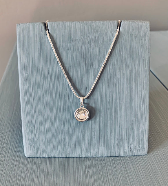Swarovski Crystal  Pendant Necklace – Wedding Accessories – April Birthstone Gifts - Bridesmaids Gifts