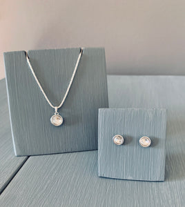 Crystal Necklace & Earring Pendant set