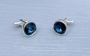 Montana Silver Cufflinks - Wedding Accessories - Father's Day - Anniversary Gift, December Birthstone