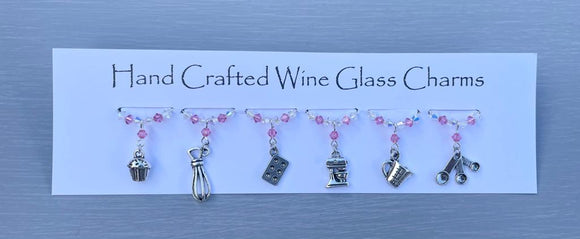 Baking Wine Glass Charms