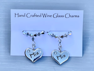 His and His Wine Glass Charms
