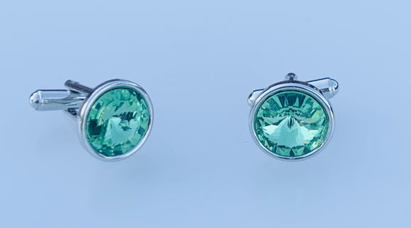 Peridot Cufflinks Swarovski - August Birthstone - Wedding Accessories