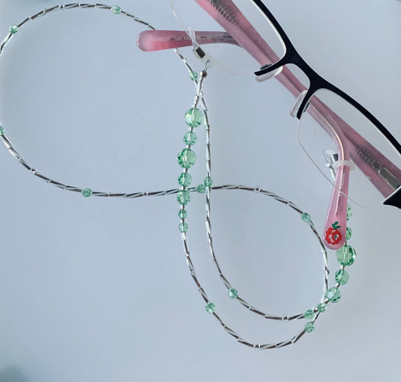 Eye Glasses Chain – Peridot – August Birthstone – Mothers Day - Birthday