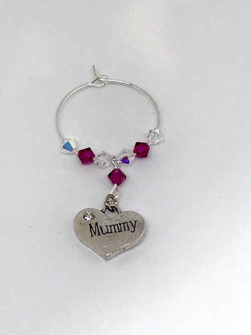 Mummy Wine Glass Charm - Mother's Day - Birthday