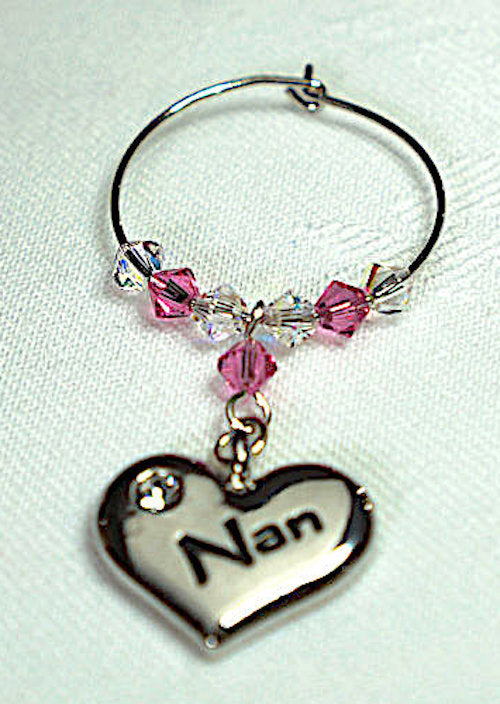 Nan Wine Glass Charm - Christmas Gift - Stocking Fillers