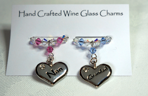 Nan and Grandad Wine Glass Charms - Anniversary Gift - Christmas Gifts