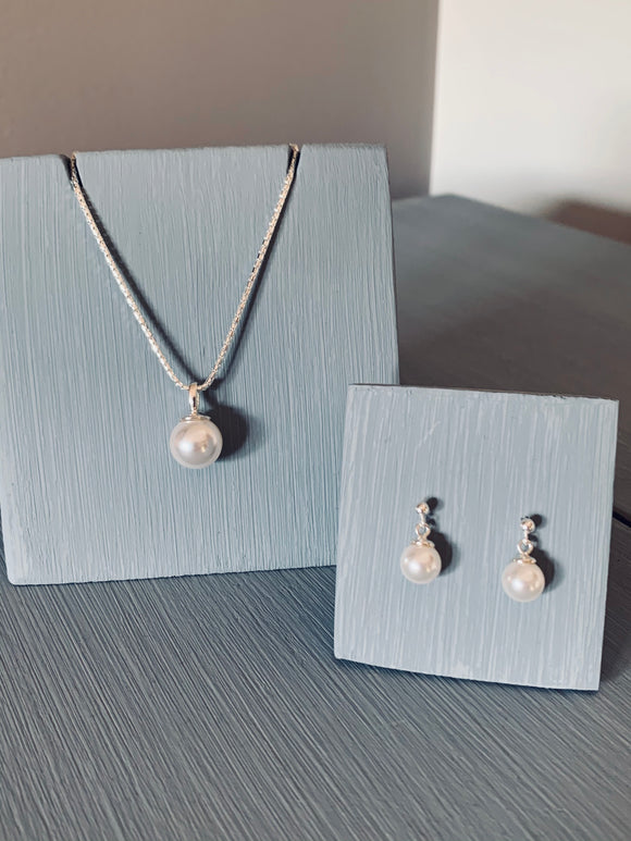 Swarovski Pearl Jewellery Set - June Birthstone - Wedding Accessories- Bridal Jewellery