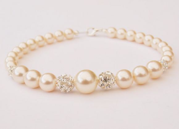 Pearl Bracelet - June Birthstone - Wedding Accessories - Bridesmaids -  Christmas Gifts