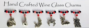 Pumpkin Surprise - Halloween Wine Glass Charms - Halloween Party - Halloween Gifts