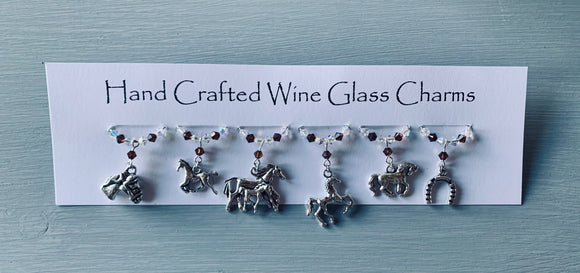 Horse Wine Glass Charms 2