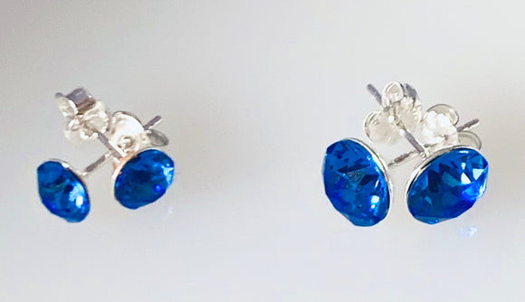 Sapphire Earrings – September Birthstone - Sterling Silver – Wedding Accessories – Anniversary Gifts