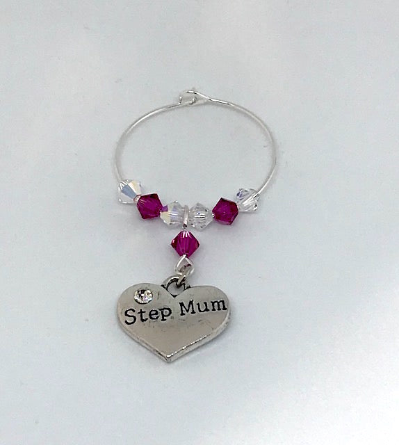 Step Mum Wine Glass Charm - Mother's Day Gift - Birthday