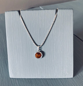 Topaz Swarovski Crystal  Pendant Necklace – Wedding Accessories – November Birthstone Gifts - Bridesmaids Gifts