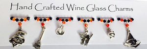Witches Tricks - Wine Glass Charms - Halloween Party - Halloween Gifts