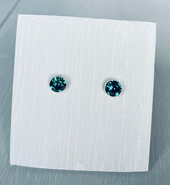 Swarovski Crystal Emerald Earrings – May Birthstone – Wedding Accessories